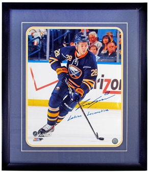 Zemgus Girgensons Autographed and Framed Buffalo Sabres Hockey 16x20 Photo