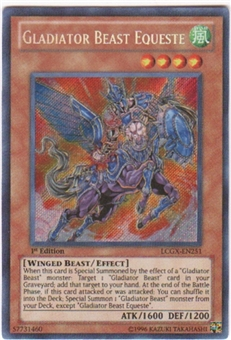 Yu-Gi-Oh Legendary Collection 2 Single Gladiator Beast Equeste Secret Rare