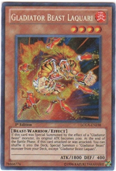 Yu-Gi-Oh Ra Mega Pack Single Gladiator Beast Laquari Secret Rare