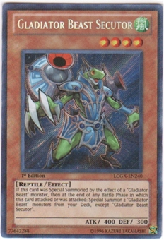 Yu-Gi-Oh Legendary Collection 2 Single Gladiator Beast Secutor Secret Rare