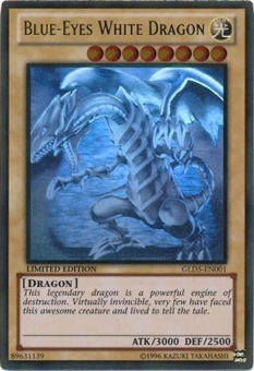 Yu-Gi-Oh Gold Series 5 Single Blue-Eyes White Dragon Ghost Rare Near Mint (NM)