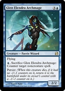 Magic the Gathering Modern Masters Single Glen Elendra Archmage Foil