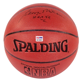 "George Mikan Autographed Official Spalding Basketball w/""HOF 59"" Inscription (PSA)"