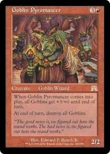 Magic the Gathering Onslaught Single Goblin Pyromancer UNPLAYED (NM/MT)