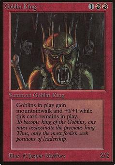 Magic the Gathering Beta Single Goblin King - MODERATE PLAY (MP)