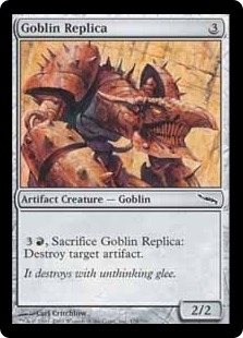 Magic the Gathering Mirrodin Single Goblin Replica Foil