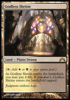 Magic the Gathering Gatecrash Single Godless Shrine - MODERATE PLAY (MP)