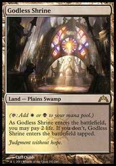 Magic the Gathering Gatecrash Single Godless Shrine FOIL - SLIGHT PLAY (SP)