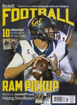 2016 Beckett Football Monthly Price Guide (#306 July) (Jared Goff)