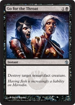 Magic the Gathering Mirrodin Besieged Single Go for the Throat - NEAR MINT (NM)