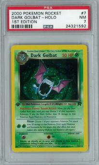 Pokemon Team Rocket 1st Edition Single Dark Golbat 7/82 - PSA 7