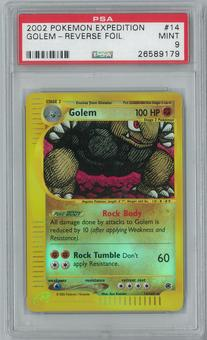 Pokemon Expedition Golem 14/165 Reverse Foil PSA 9