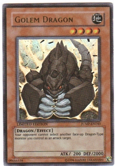Yu-Gi-Oh Promo Single Golem Dragon Ultra Rare (JUMP-EN040)