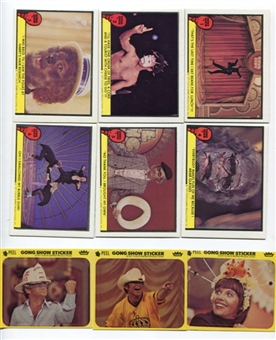 Gong Show 1977 Fleer 66 Card Set + 10 Sticker Set