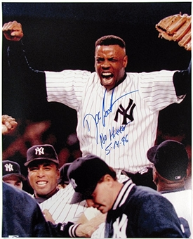 Dwight Gooden Autographed New York Yankees 16x20 Photo with inscription