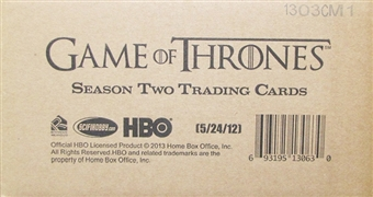Game of Thrones Season Two Trading Cards 12-Box Case (Rittenhouse 2013)