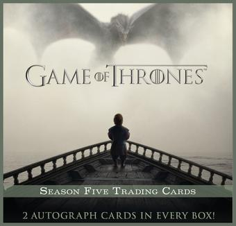 Game Of Thrones Season Five Trading Cards 12-Box Case (Rittenhouse 2016) (Presell)