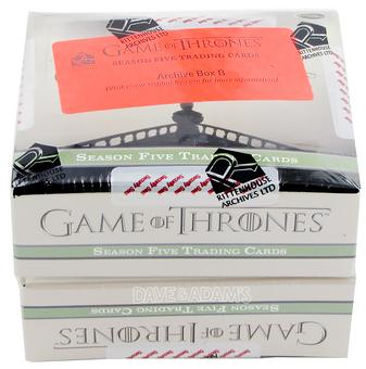 Game Of Thrones Season Five Trading Cards Archive Box (Rittenhouse 2016)