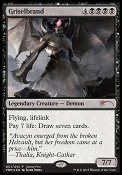 Magic the Gathering Promo Single Griselbrand GRAND PRIX FOIL - NEAR MINT (NM)