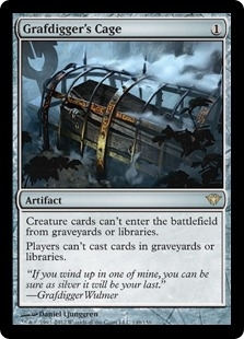 Magic the Gathering Dark Ascension Single Grafdigger's Cage - NEAR MINT (NM)