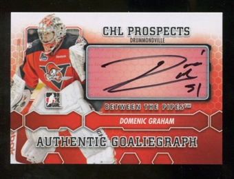 2012/13 In the Game Between The Pipes Autographs #ADG Domenic Graham Autograph