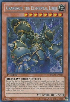 Yu-Gi-Oh Return of the Duelist 1st Edition Single Grandsoil the Elemental Lord Secret Rare