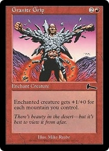 Magic the Gathering Urza's Legacy Single Granite Grip Foil