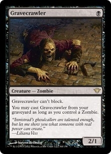 Magic the Gathering Dark Ascension Single Gravecrawler Foil
