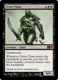 Magic the Gathering 2012 Single Grave Titan Foil