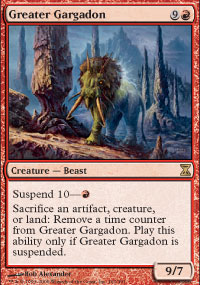 Magic the Gathering Time Spiral Single Greater Gargadon Foil