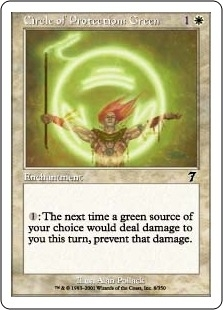 Magic the Gathering 7th Edition Single Circle of Protection: Green Foil