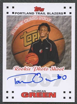2007/08 Topps Rookie Photo Shoot Autographs #TG Taurean Green 47/100