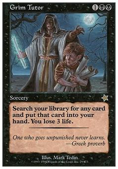 Magic the Gathering Starter Single Grim Tutor SLIGHT / MODERATE PLAY SP/MP