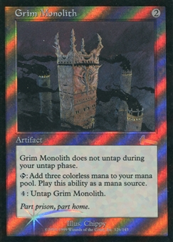 Magic the Gathering Urza's Legacy Single Grim Monolith Foil - SLIGHT PLAY (SP)