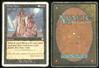 Magic the Gathering Starter Single Grim Tutor HEAVY PLAY (HP)