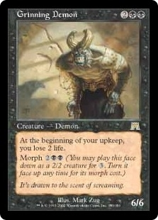 Magic the Gathering Onslaught Single Grinning Demon - NEAR MINT (NM)