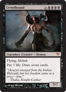 Magic the Gathering Avacyn Restored Single Griselbrand Foil - NEAR MINT (NM)