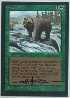 Magic the Gathering Beta Artist Proof Grizzly Bears - SIGNED BY JEFF A. MENGES
