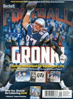 2015 Beckett Football Monthly Price Guide (#296 September) (Rob Gronkowski)