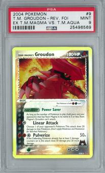 Pokemon Ex Team Magma vs Team Aqua Team Magma's Groudon 9/95 Reverse Foil Rare PSA 9