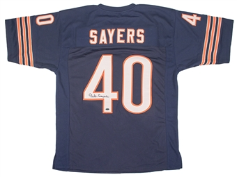Gale Sayers Autographed Chicago Bears Jersey  (Leaf Authentics)