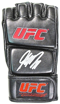 George St Pierre Autographed UFC MMA Glove