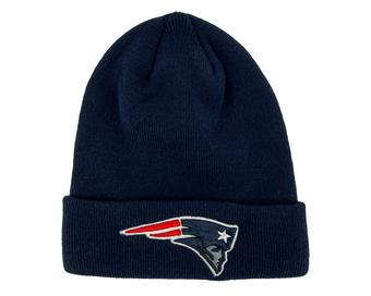 New England Patriots '47 Brand Navy Raised Cuff Knit Winter Hat (Adult One Size)
