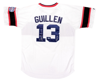 Ozzie Guillen Autographed Chicago White Sox Throwback Jersey (Tristar)