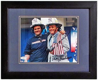 Joe Torre - Rudy Giuliani Autographed & Framed New York Yankees 8x10 Photo