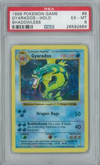 Pokemon Base Set Shadowless Gyarados 6/102 Holo Rare PSA 6