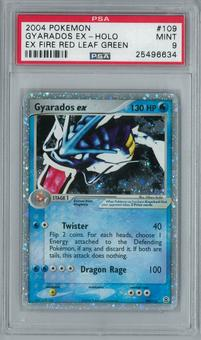 Pokemon EX Fire Red Leaf Green Gyarados EX 109/112 Holo Rare PSA 9