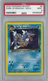 Pokemon Team Rocket Dark Gyarados 8/82 Holo Rare PSA 9