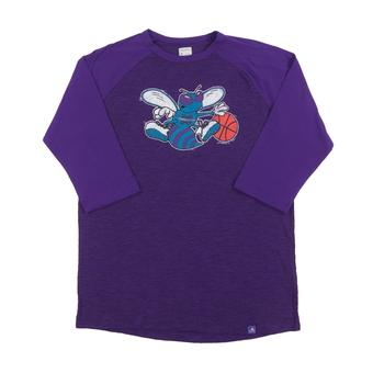 Charlotte Hornets Majestic Purple Don't Judge 3/4 Sleeve Dual Blend Tee Shirt