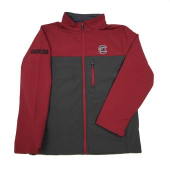 South Carolina Gamecocks Colosseum Maroon & Grey Yukon II Full Zip Jacket (Adult M)